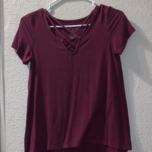 "american eagle ""soft & sexy"" cross front top"
